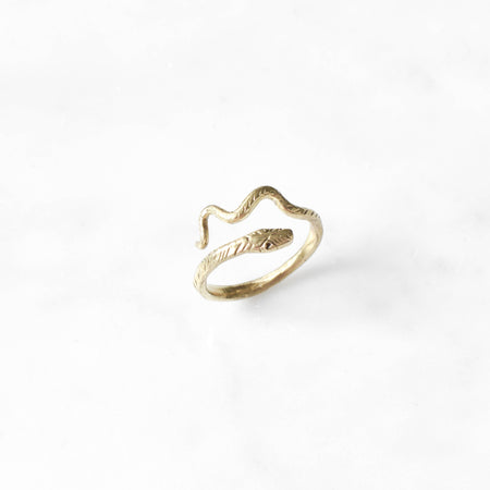 Little Snake ring - brass