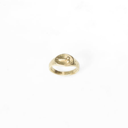 Tiny D ring - Wide version - brass
