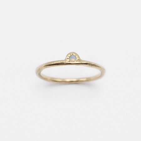 Daybreak Ring - 10k gold with opal