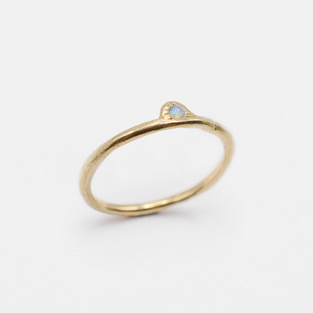 Daybreak Ring - 10k gold with opal - READY TO SHIP