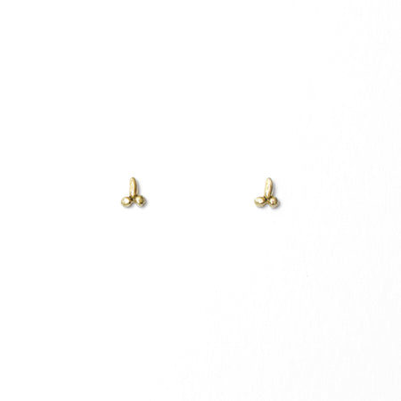 Tiny D studs - 14k Gold - READY TO SHIP