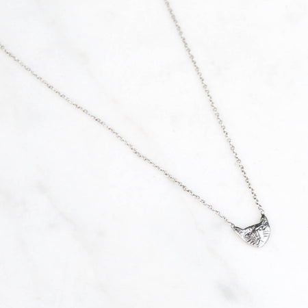 tiny cat necklace - silver