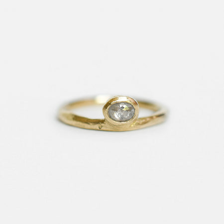 Peri ring - 10k gold with salt & pepper diamond