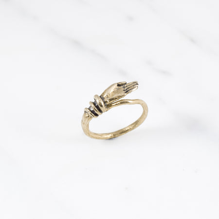 Bound hand ring - brass