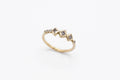 Chlo Ring - 14k gold with star set salt & pepper diamonds - READY TO SHIP