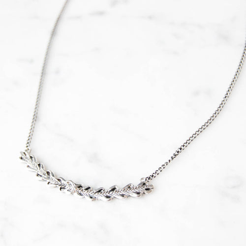 Laurel necklace - silver