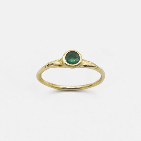 Eos Ring - 14k gold with emerald