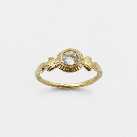 Amo ring - 14k gold with moonstone