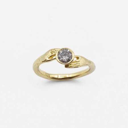 Offering ring - 10k gold with Salt & Pepper Diamond
