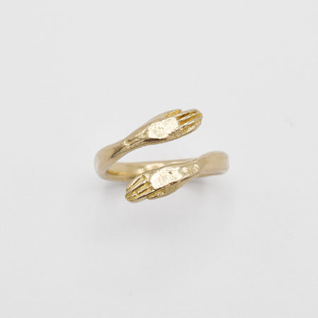 Protective hand ring - 10k gold