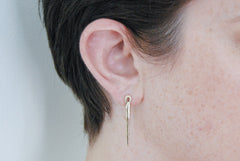 Needle earrings - brass