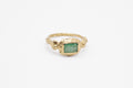 Ore ring - 10k gold with emerald