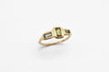 Delta Ring - 10k Gold with Sapphires - READY TO SHIP