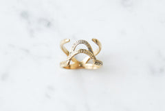 Arch & Needles ring - brass