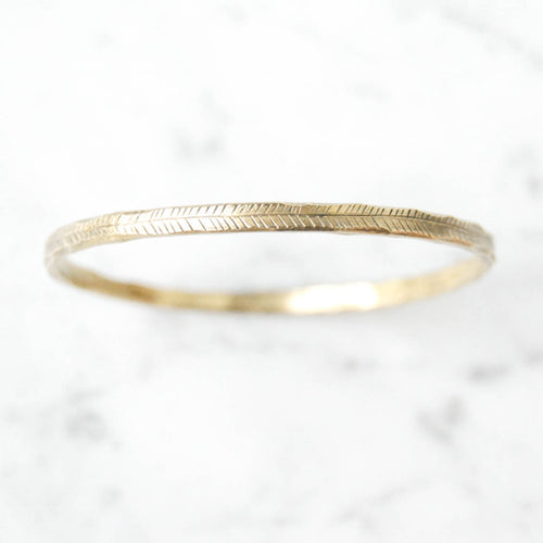 Hatch bangle - brass