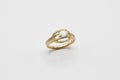 Moonstone deco ring - 14k gold - READY TO SHIP