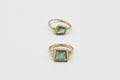Geometric Emerald Signet Ring #3 - 10k gold