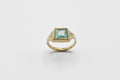 Geometric Emerald Signet Ring #2 - 10k gold