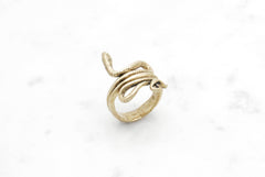 Snake Coil ring - brass