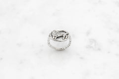 Cat Cameo ring - silver