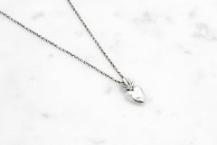 Burning Heart necklace - silver