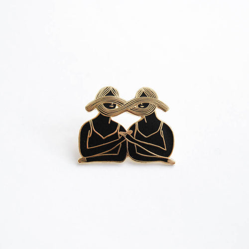 Eternal Sisterhood Pin - Gold & Black