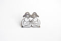 Eternal Sisterhood Pin - Black & White