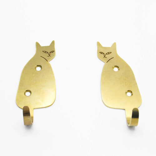 Feline Support System - Brass Hook