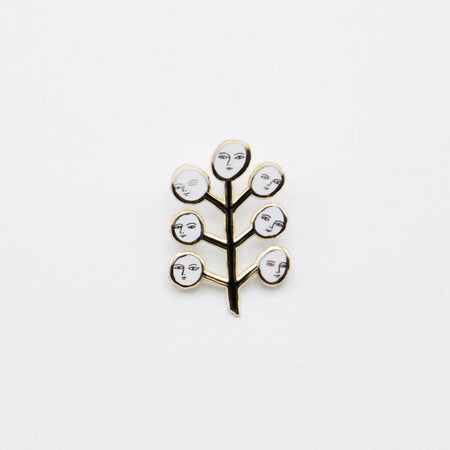 Face Tree Pin