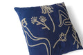 Flash Embroidered Pillow Case - Indigo