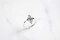 Starry diamond ring - silver