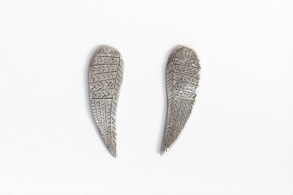 Wing earrings - silver