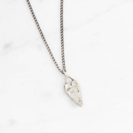SAMPLE SALE! Heart necklace - silver