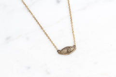 Watchful eye necklace - brass