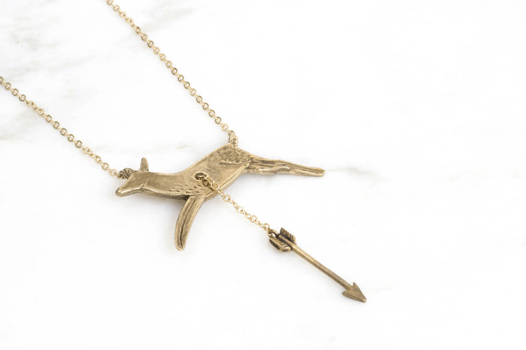 Hart & Hunt necklace - brass