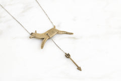 Hart & Hunt necklace - brass on silver