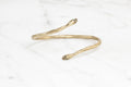 Protective hand bangle - brass