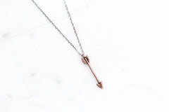 Arrow necklace - rose / yellow / white gold on silver