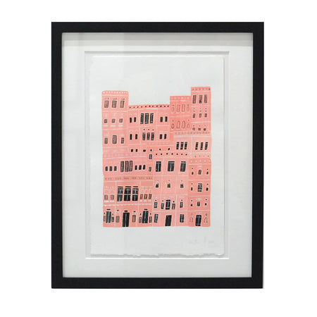 The Pink City - Original Drawing