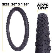 Load image into Gallery viewer, e303 26 inch tire rugged tread