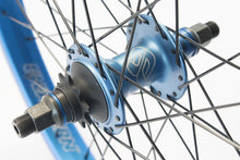 Load image into Gallery viewer, eastern bikes buzzip rear wheel professional bmx wheel blue anodized