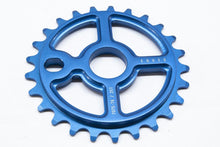 Load image into Gallery viewer, Ezra equis professional bmx sprocket 7075 alloy 25t blue
