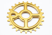 Load image into Gallery viewer, Ezra equis professional bmx sprocket 7075 alloy 25t gold