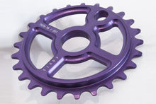 Load image into Gallery viewer, Ezra equis professional bmx sprocket 7075 alloy 25t purple