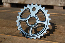Load image into Gallery viewer, Ezra equis professional bmx sprocket 7075 alloy 25t chrome