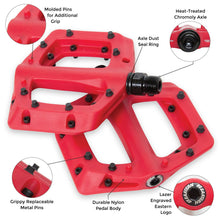 Load image into Gallery viewer, eastern bikes linx bmx pedals red