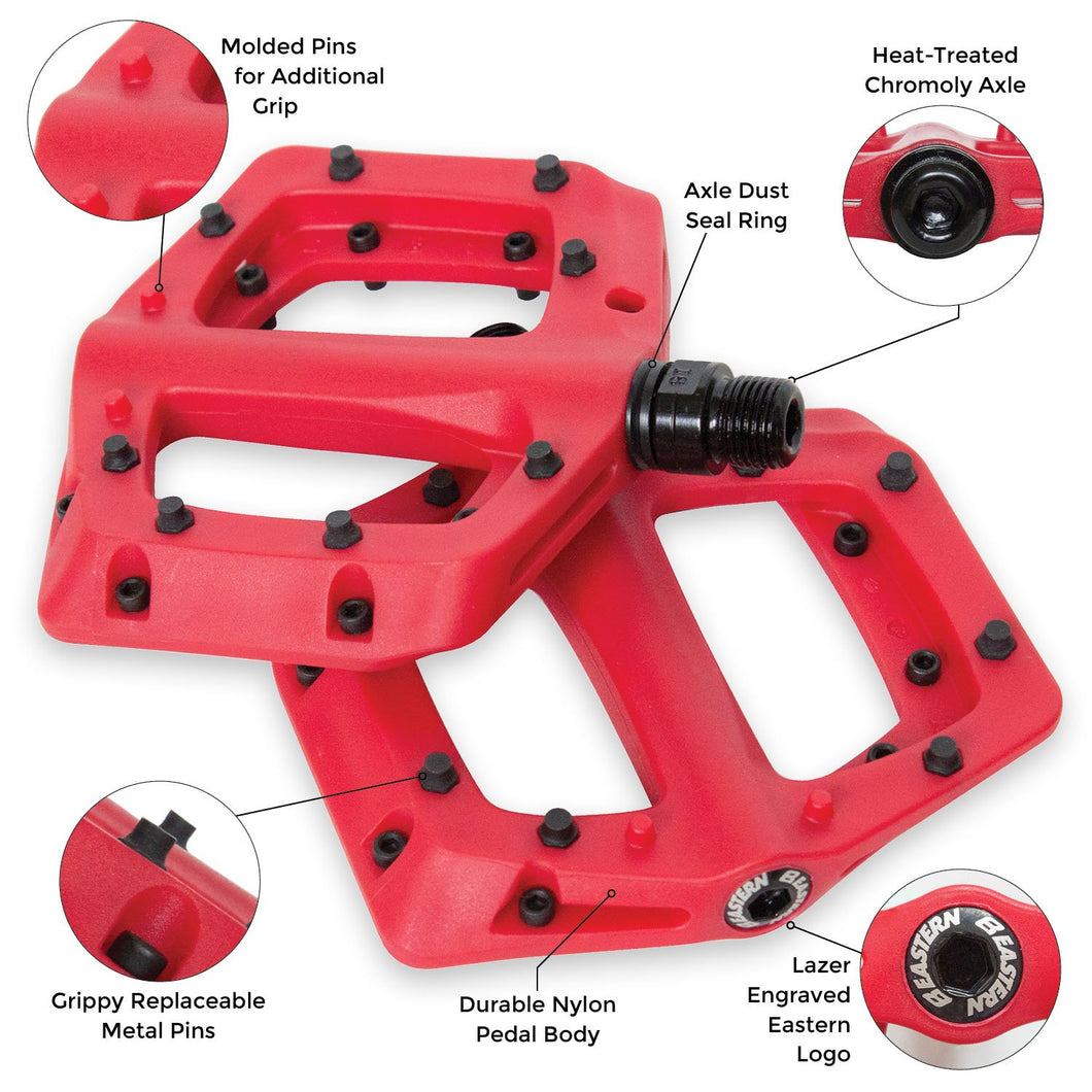 eastern bikes linx bmx pedals red