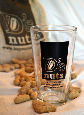 D's nuts Pint Glass
