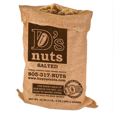 D's nuts 1.5 lbs. In Shell Salted Gourmet Peanuts - Buy Our Nuts To Save Yours