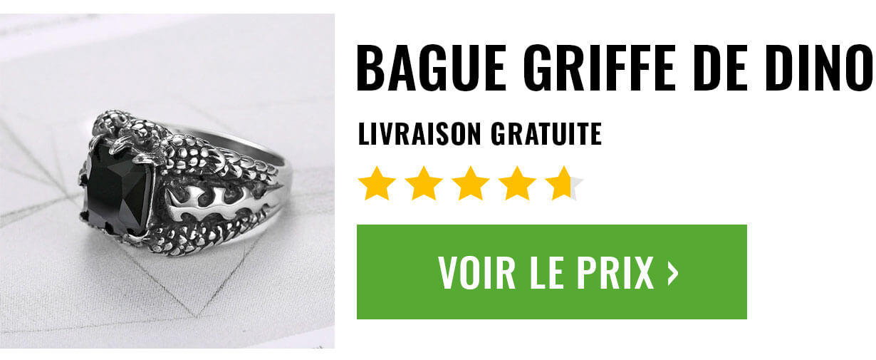 bague chevaliere griffe dinosaure